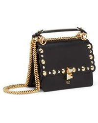 Fendi - Small Kan I Scallop Leather Shoulder Bag - Lyst