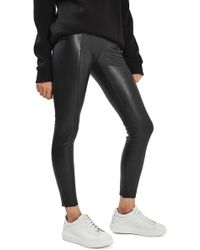 TOPSHOP - Percy Faux Leather Skinny Pants - Lyst
