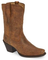 Ariat - Round Up Rylan Square Toe Bootie - Lyst