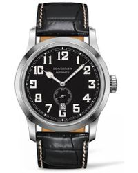 Longines - Heritage Automatic Military Leather Strap Watch - Lyst