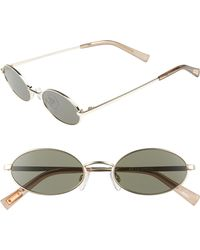 Le Specs - Love Train 51mm Oval Sunglasses - Bright Gold - Lyst