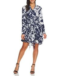 1.STATE - Tie Front Shirtdress - Lyst