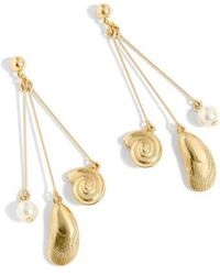 J.Crew - J.crew Seashell Drop Earrings - Lyst