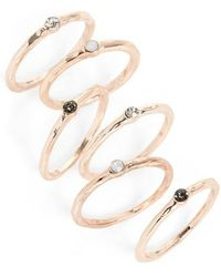 TOPSHOP - Set Of 6 Stack Rings - Lyst
