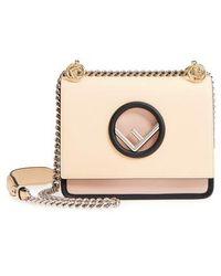 Fendi - Mini Kan I Colorblock Leather Shoulder Bag - Lyst