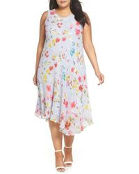 RACHEL Rachel Roy - Floral Asymmetrical Dress - Lyst