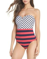 Tommy Bahama - Channel Surfing Strapless One-piece Swimsuit - Lyst