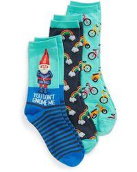 Hot Sox - 3-pack Gnome Socks, Blue - Lyst
