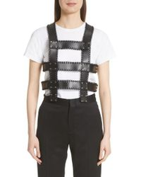 Noir Kei Ninomiya - Faux Leather Harness Top - Lyst