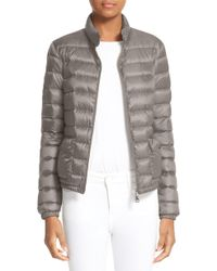 bcff2e062 Lyst - Moncler Ciclista Quilted Down Front Sweater Jacket in Gray