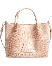 Brahmin - Small Mallory Croc Embossed Leather Satchel - Lyst