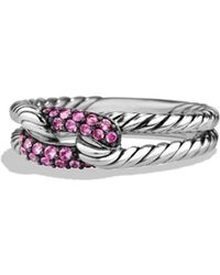 David Yurman - 'Pave' Loop Ring With Sapphires - Lyst