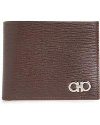 Ferragamo - Revival Gancio Bifold Leather Wallet - - Lyst