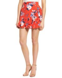 Cupcakes And Cashmere - Elisa Floral Ruffle Skirt - Lyst