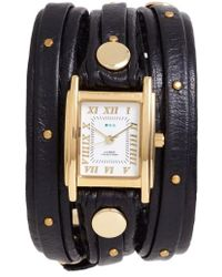 La Mer Collections | Studded Leather Wrap Watch | Lyst