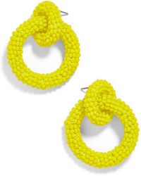 BaubleBar - Mini Emma Beaded Hoop Earrings - Lyst