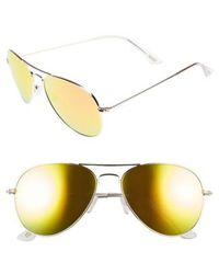 DIFF - Cruz 57mm Metal Aviator Sunglasses - Lyst