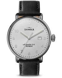 Shinola - The Canfield Alligator Strap Watch - Lyst