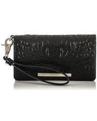 Brahmin - Debra Croc Embossed Leather Phone Wallet - - Lyst