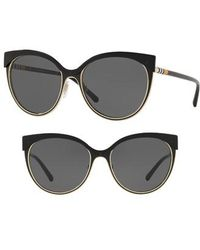 Burberry - Heritage 55mm Cat Eye Sunglasses - - Lyst