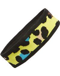 TOPSHOP - Leopard Print Knit Ear Warmer Headband - Lyst