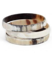 INK AND ALLOY - Ink + Alloy Hathor Set Of 3 Bangles - Lyst
