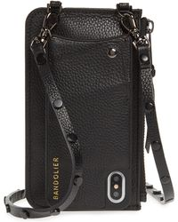 Bandolier - Jane Leather Iphone X/xs Crossbody Case & Pouch Set - Lyst