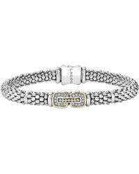 Lagos - 'cushion' Diamond Caviar Bracelet - Lyst