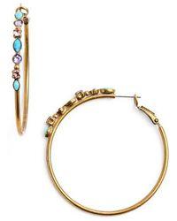 Sorrelli | Mixed Media Large Hoop Earrings | Lyst