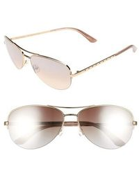 Juicy Couture - Shades Of Couture By 60mm Gradient Aviator Sunglasses - Light Gold - Lyst