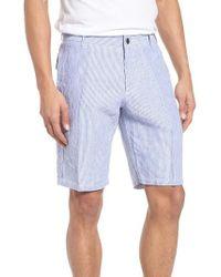 Vilebrequin | Stripe Linen Bermuda Shorts | Lyst
