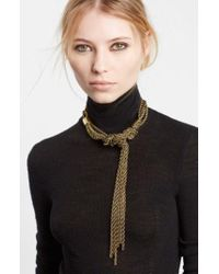 Lanvin - Tight Knot Brass Necklace - Lyst