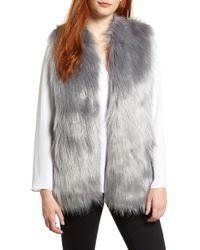 Chaus - Faux Fur Vest - Lyst