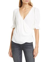 Cinq À Sept Cinq À Sept Theo Wrap Top - White
