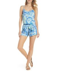 bed66d4b87a9 Lilly Pulitzer - Lilly Pulitzer Deanna Sleeveless Romper - Lyst