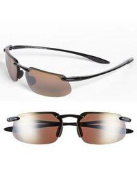 Maui Jim - 'kanaha - Polarizedplus2' 62mm Sunglasses - Gloss Black/ Bronze - Lyst