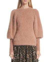 Ulla Johnson - Labelle Puff Sleeve Angora Blend Sweater - Lyst