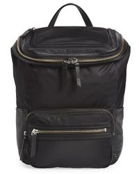 Vince Camuto | Patch Nyl Leather & Nylon Backpack | Lyst