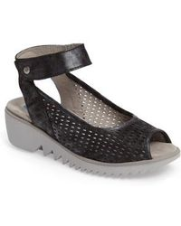 Wolky | Frosty Ankle Strap Wedge Sandal | Lyst