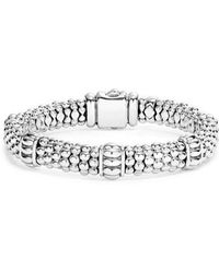 Lagos - Fluted Station Caviar Rope Bracelet - Lyst