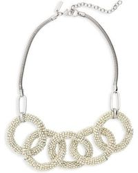 TOPSHOP - Beaded Links Collar Necklace - Lyst