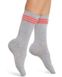 Make + Model - Eyelash Stripe Crew Socks - Lyst