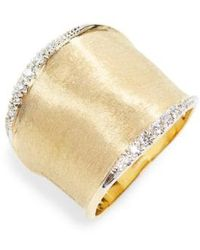 Marco Bicego - Lunaria Diamond Band Ring - Lyst
