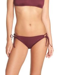The Bikini Lab - Side Tie Bikini Bottoms - Lyst