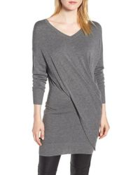 Trouvé - Seamed Drape Sweater - Lyst