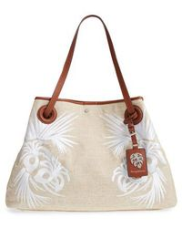 Tommy Bahama - Waikiki Embroidered Canvas Tote - Lyst
