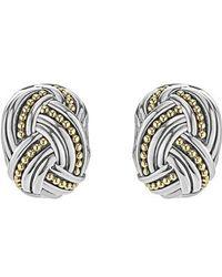 Lagos - Torsade Rectangle Omega Clip Earrings - Lyst