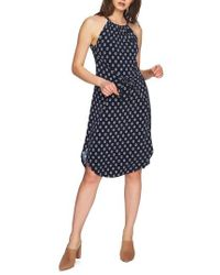 1.STATE - Tie Front Halter Style Dress - Lyst