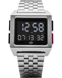 adidas - Archive Digital Bracelet Watch - Lyst