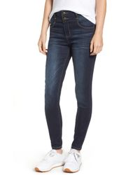 Tinsel - Double Stacked Waistband High Waist Skinny Jeans - Lyst